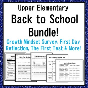 Back to School Bundle with Growth Mindset Survey