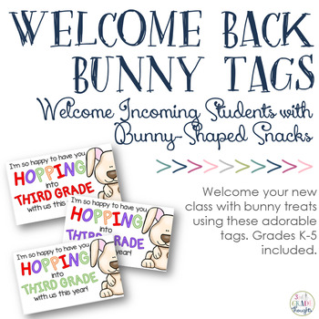 Back to School Bunny Snack Tags