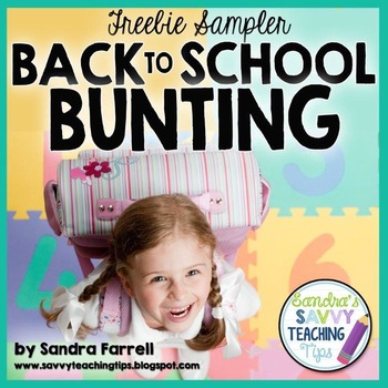 Back to School Bunting Banner