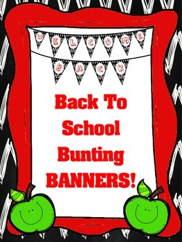 Alphabet & Number Bunting Banners for Back to School