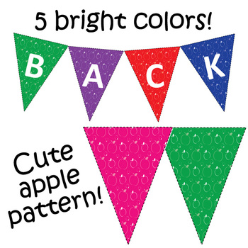 Back to School Decorations: Bunting and Student Banners
