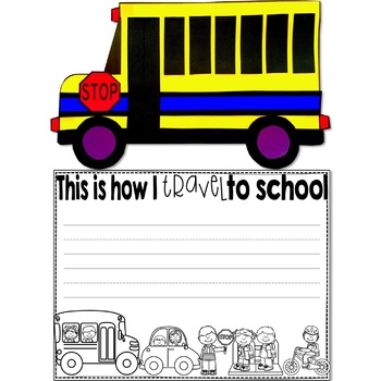 Back to School Bus Craft or Glyph