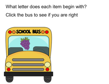 Back to School Bus Beginning Sounds Smartboard