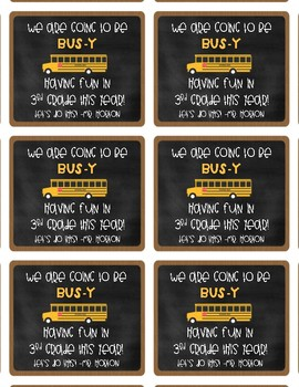 Back to School Bus Brownie Tag