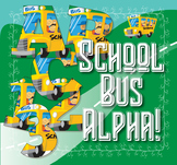 "Back to School Bus! Clip Art Alphabet, 91 PNGs, 3.5"" 300 DPI  Vector and PNG"
