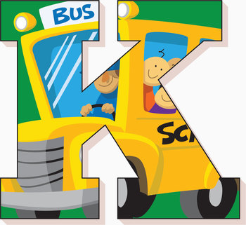 """Back to School Bus! Clip Art Alphabet, 91 PNGs, 3.5"""" 300 DPI  Vector and PNG"""