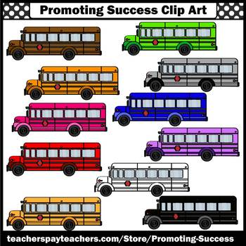 Back to School Bus Clipart for Transportation Unit SPS