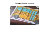 Back to School Bus Flip Flap Book