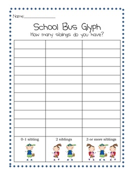 Back to School Bus Glyph