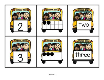 Back to School Number Cards FREE