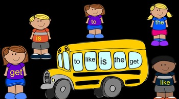 Back to School Bus Sight Words