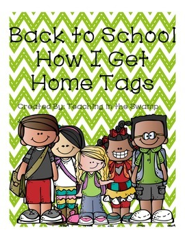 """Back to School Bus Tags """"How I Get Home Tags"""""""