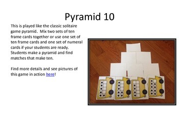 Back to School Bus Themed 10 Frame Playing Cards and Activity Set