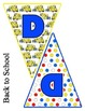Back to School Bus Transportation Pennant Banner Bundle Set / Alphabet & Numbers