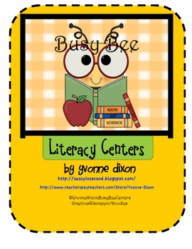 Back to School Busy Bee Literacy Centers