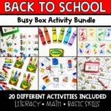 Back-to-School Busy Boxes **BUNDLE**