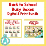 Back to School Busy Boxes Digital and Print **BUNDLE**