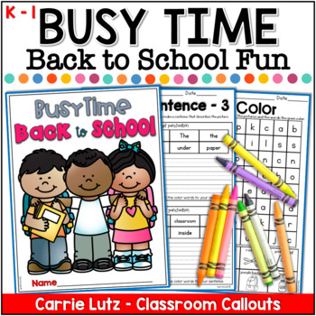 Back to School Busy Packet - No Prep