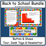 Back to School Buttons and Shoes Bundle: tour, nametags &