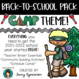 Back-to-School CAMPING Pack! Teacher Binder, Activities, &