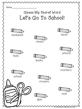 Let's Go To School!:  CCSS Aligned Leveled Reading Passages and Activities