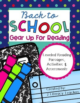Back to School: CCSS Aligned Leveled Reading Passages and Activities