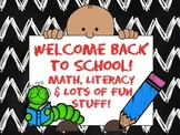 Back to School! CCSS Math, Literacy & Lots of Fun Stuff!