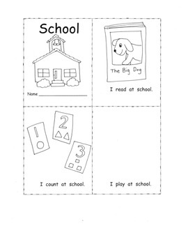 School Theme C Core Literacy PACK:  Poetry Syllables Print Concepts Kindergarten