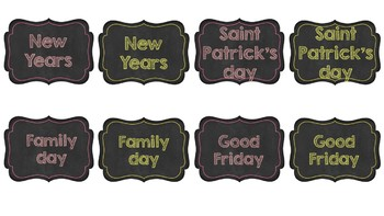 Back to School CHALKBOARD labels for the classroom
