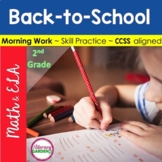 MORNING WORK { BACK to SCHOOL } ~ 2nd Grade