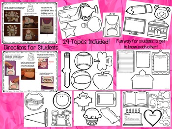 Back to School CRAFTIVITY: Backpack Craft with 29 Get to Know You Topics