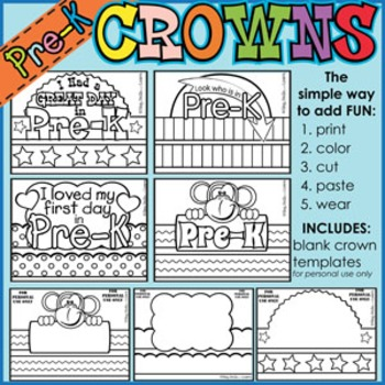Back to School CROWNS **PRE-K**