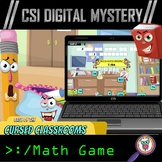 Back to School CSI Digital Math Mystery: Case of the Curse