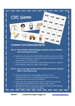 Back to School CVC Game ~ Nonsense Words Included