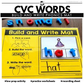 CVC Mats Literacy Centers