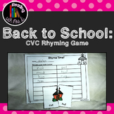 Back to School CVC Rhymes Match Game