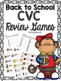 Back to School CVC Short Vowel Review Games!