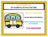 Back to School CVC Word Bus Task Box Cards