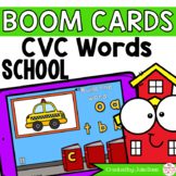 Back to School CVC Words Digital Game Boom Cards™