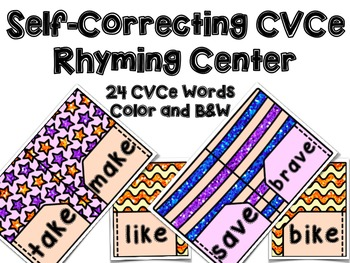 CVCe Rhyming Center - Long Vowel Rhyming Center