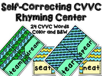 Back to School CVVC Rhyming Center