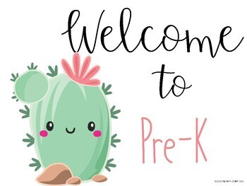 Back to School Cactus Theme Packet