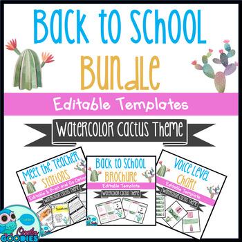 Back to School - Cactus Themed Bundle