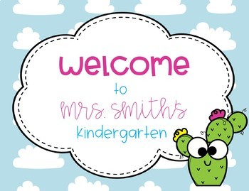 Back to School Cactus Welcome Postcards from Teacher