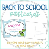 Cactus Editable Back to School Postcards to Students