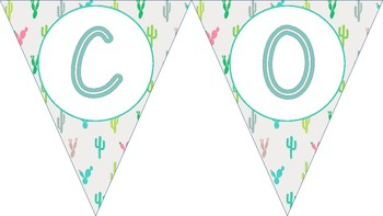 Back to School Cactus and Llama themed Welcome Banner