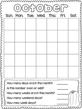 Back to School Calendar Journal