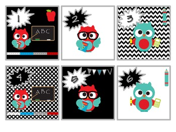 Back to School Calendar Patterns - Owls