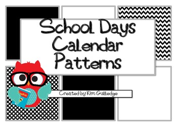 Back to School Calendar Patterns - Owls