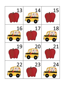 Back to School Calendar Pieces